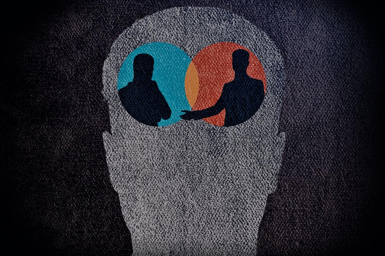 Ihmisen ajattelu muistuttaa vuoropuhelua. Kuva: Getty Images