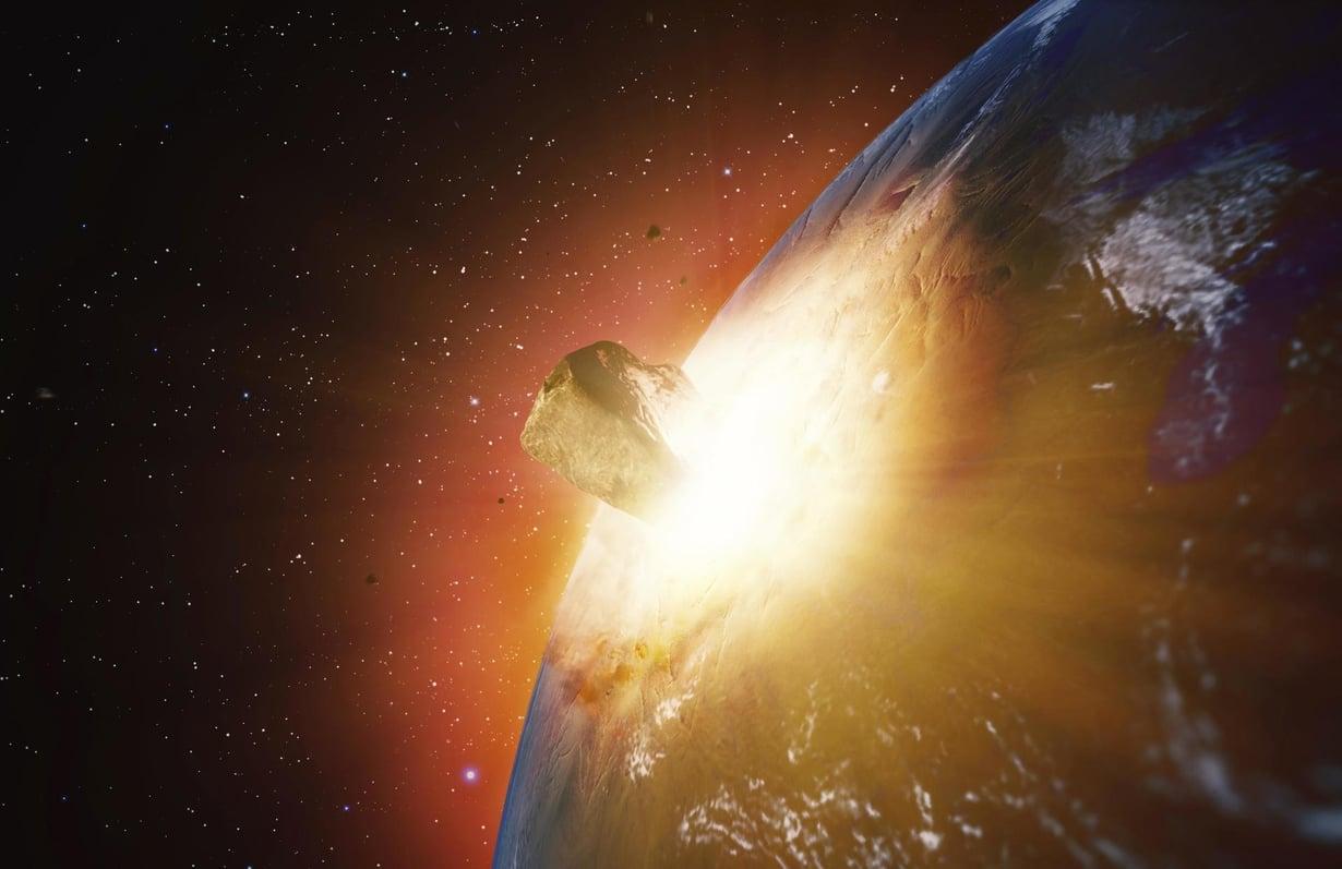 Aasiaan on iskeytynyt myös isoja meteoriitteja, joista yhden paikka on nyt löytynyt. Taiteilijan näkemys. Kuva: ANDRZEJ WOJCICKI/SCIENCE PHOTO LIBRARY