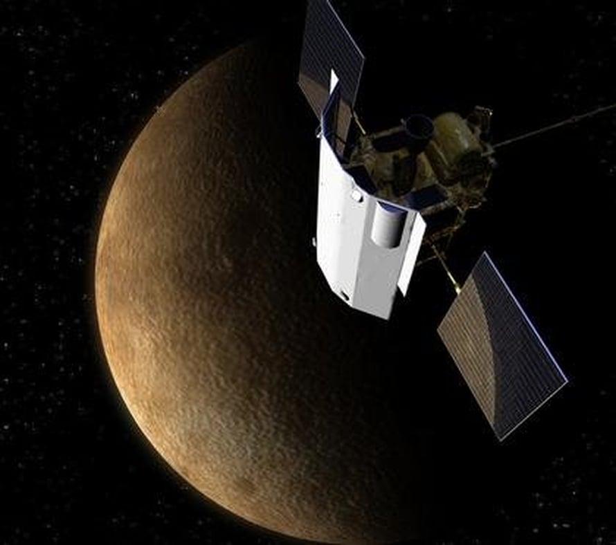 """Pian Massenger rysähtää 14 000 kilometrin tuntivauhdilla Merkuriukseen . Kuva: <span class=""""photographer"""">Nasa</span>"""