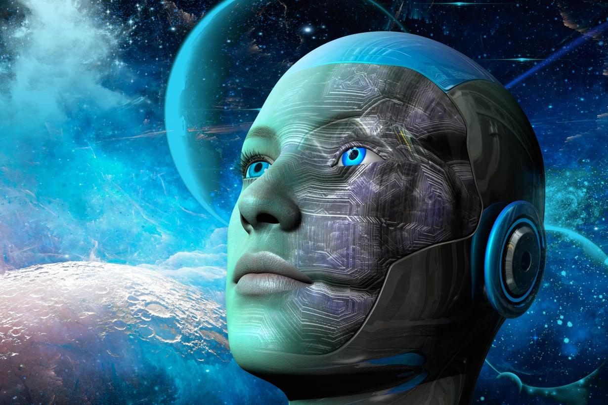 Evoluutiomme voi lähteä uusille urille, jos ihmisen ja tekniikan yhteispeli etenee nykyistä paljon intiimimmäksi. Kuva: Getty Images