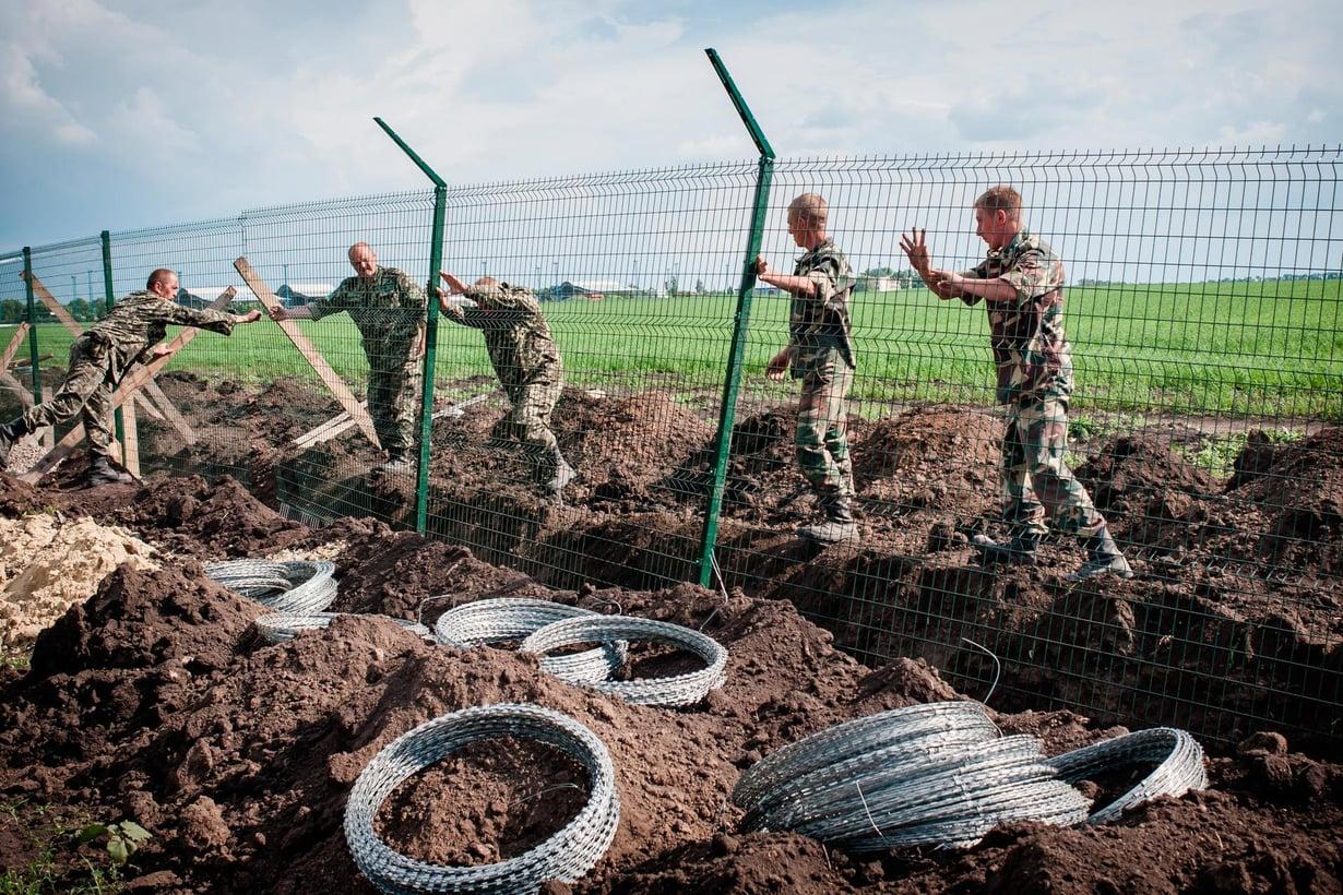 Venäjän ja Ukrainan rajalle nousi aitaa vuonna 2015.