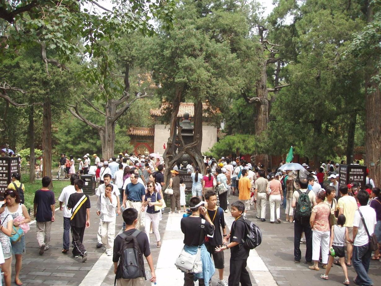Ihmisiä Pekingin Kiellytyssä kaupungissa. Kuva: Wikimedia Commons