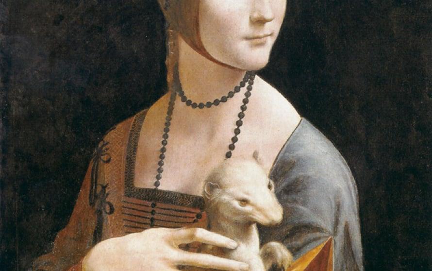 Aikansa kuuluisin kasvissyöjä otti kantaa turkiksiin maalaamalla neidon syliin elävän eläimen. Kuvat: Atena, Gettyimages, Bnf