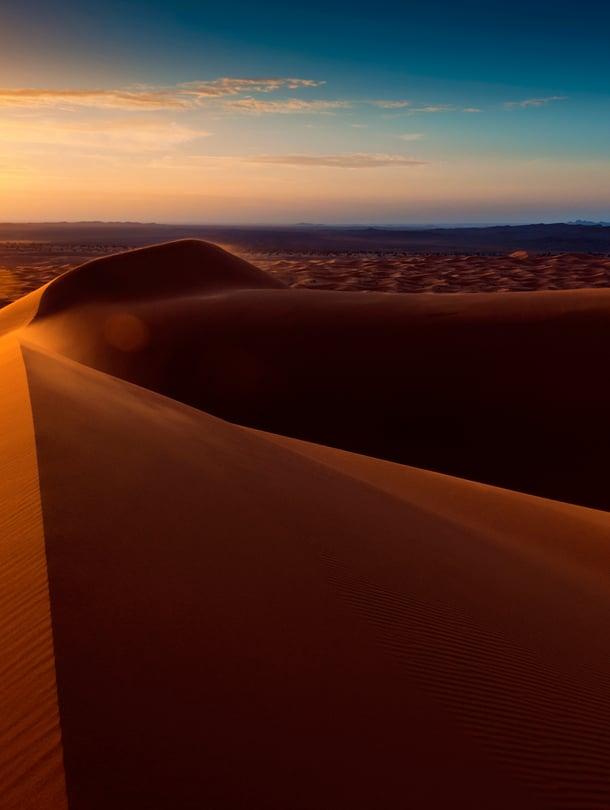 """Saharan megadyynit kohoavat jopa 300 metriin. Hiekka ei kuitenkaan kelpaa betonin valmistamiseen. Kuva: <span class=""""photographer"""">Getty Images</span>"""