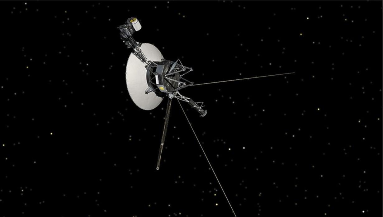 Voyager 2 on ollut matkalla 42 vuotta. Matka jatkuu noin 55 000 kilometrin tuntivauhtia. Kuva: Nasa