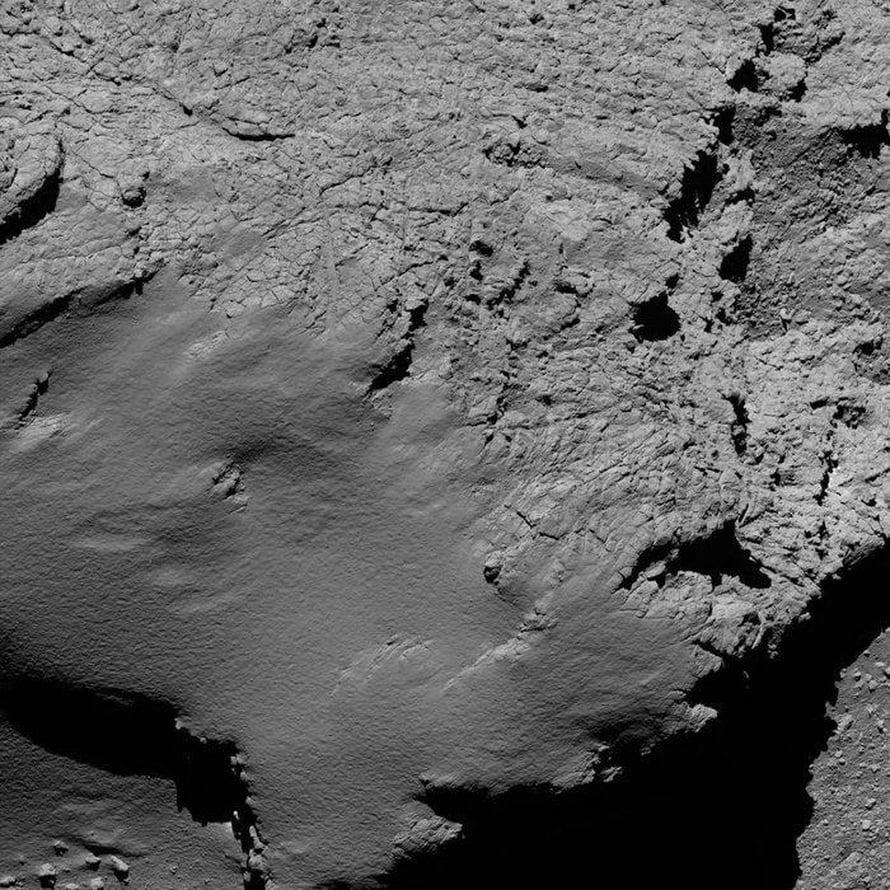 Tämä kuva otettiin perjantaina aamuyöllä noin 8,9 kilometrin päässä komeetasta. Kuva: Esa
