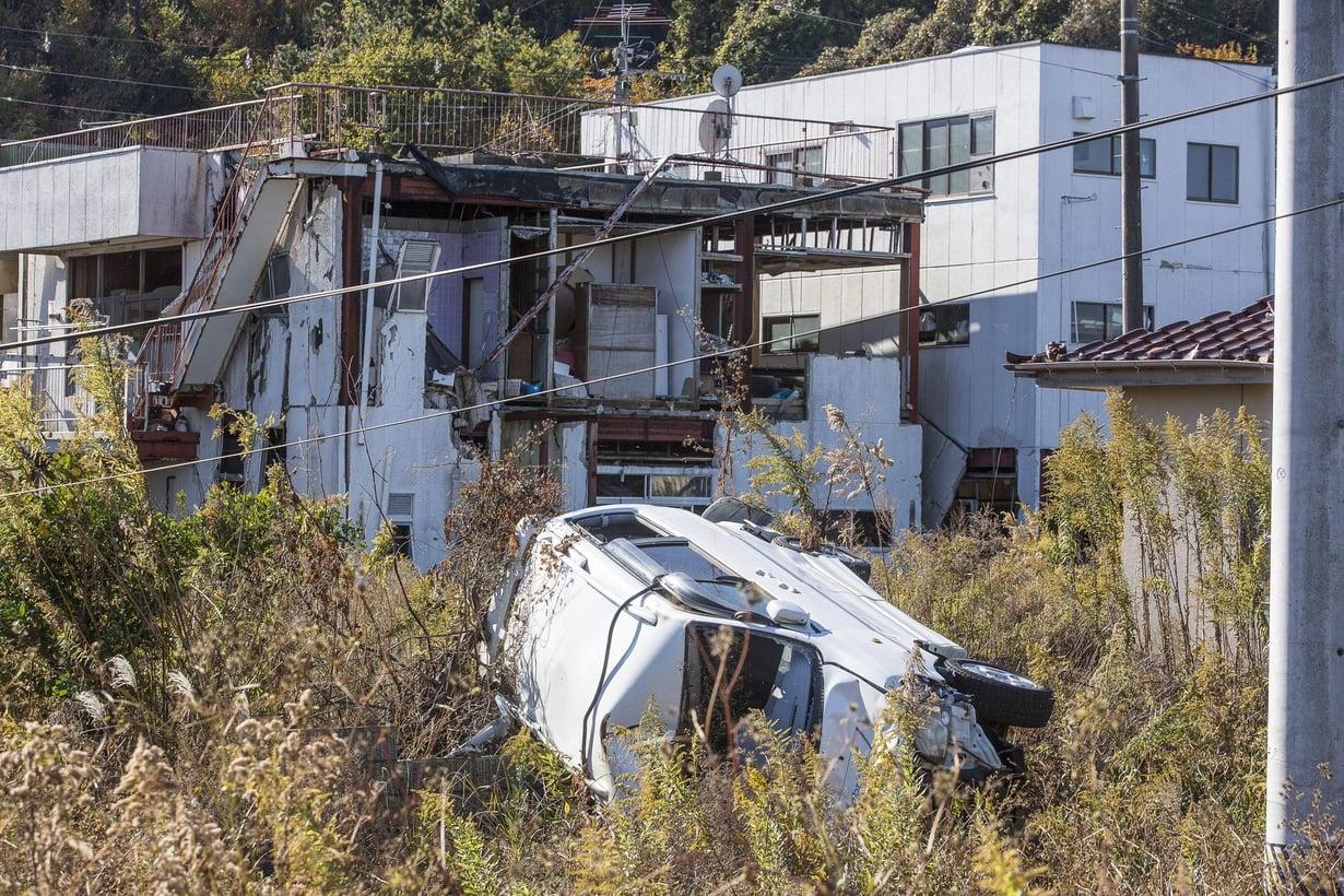 Tomiokan kylä sijaitsee yhdeksän kilometrin päässä Fukushiman ydinvoimalasta. Kylä oli kokonaan tyhjillään vielä vuonna 2013. Kuva: Kalle Koponen