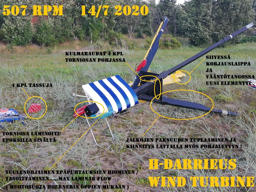 H-Darrieus wind turbine