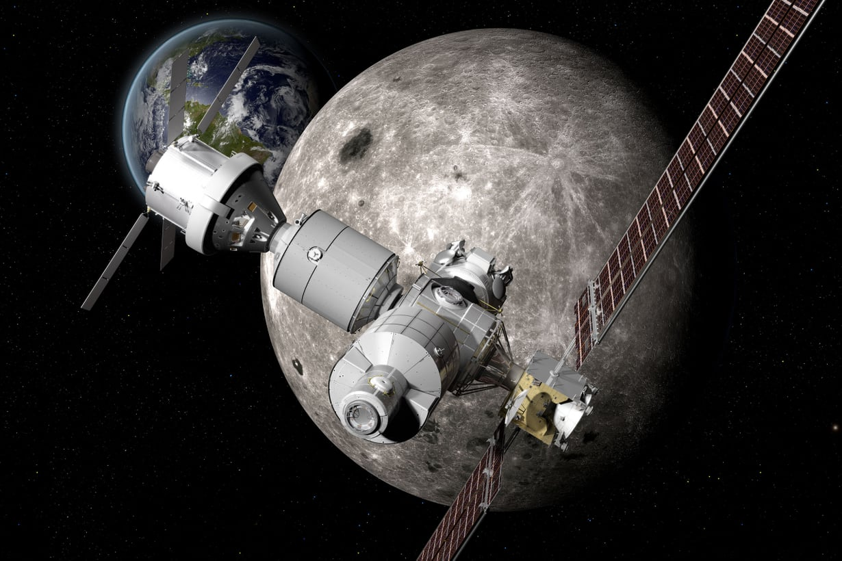 Yhdysvallat haluaa uuden avaruusaseman Kuun kiertoradalle. Se helpottaisi Kuun tutkintaa ja voisi toimia väliasemana Marsin-lennoilla. Kuva: Boeing