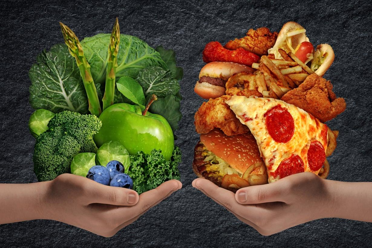 Kalorit ovat nykyään houkuttelevampia, halvempia ja helpommin saatavissa kuin koskaan aikaisemmin. Kuva: Shutterstock