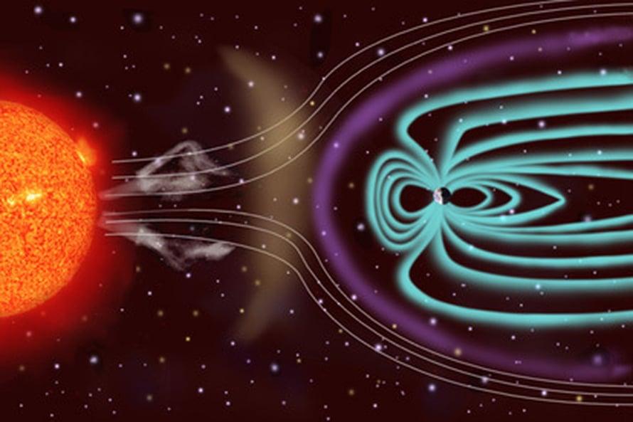 """Maan magneettikenttä pitää maapallon asuttavana. Nyt sitä hyödynnetään ihan muuhun. Kuva: <span class=""""photographer"""">ESA/NASA/SOHO</span>"""