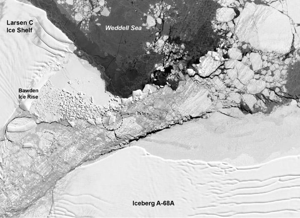 Landsat 8 -satelliitin kuva 14. päivä lokakuuta. Kuva: Nasa
