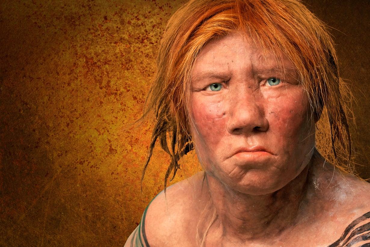 Melkein apinoista on tullut ihan ihmisiä. Osa naapureista oli punatukkaisia ja vihreäsilmäisiä – niin kuin meistäkin. Kuva: Alamy / MVPhotos