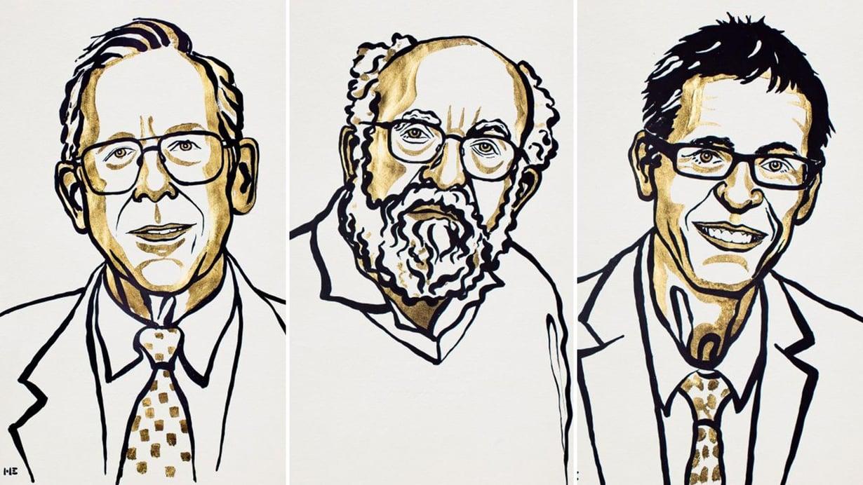 James Peebles, Michel Mayor ja Didier Queloz.