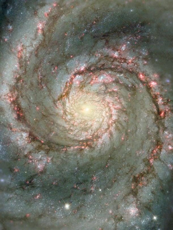 """Planeettaehdokas löytyi galaksista M51, joka on 28 miljoonan valovuoden päässä. Se tunnetaan myös nimellä Pyörregalaksi. Kuva: <span class=""""photographer"""">Nasa</span>"""