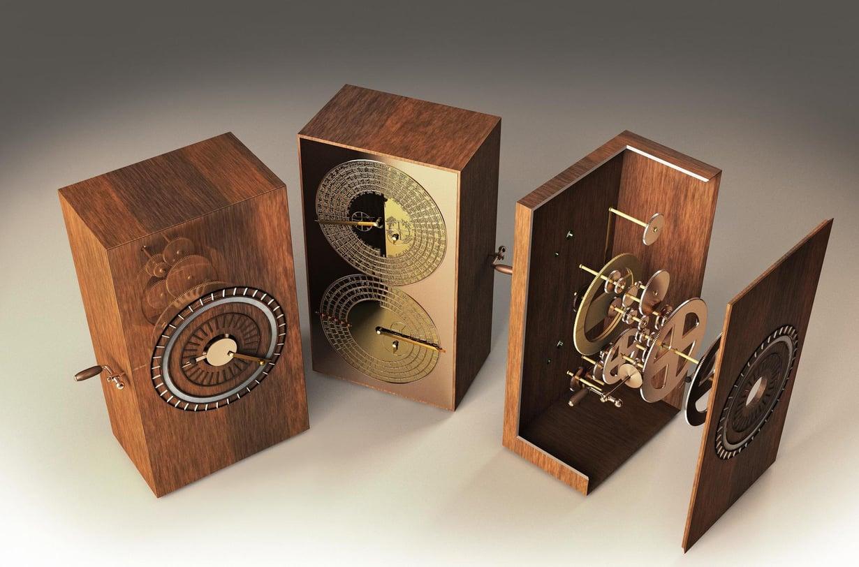 Brittitutkijat mallinsivat Antikytheran mekanismin tietokoneella. Seuraavaksi tavoitteena on rakentaa laitteesta kopio nykyaikaisilla materiaaleilla. Kuva: JOSE ANTONIO PENAS / SCIENCE PHOTO LIBRARY