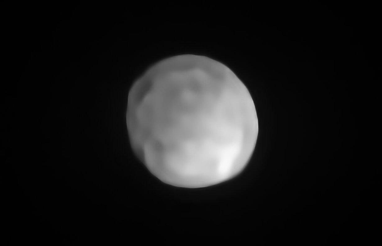 Hygiea on lähes pyöreä. Kuva: ESO