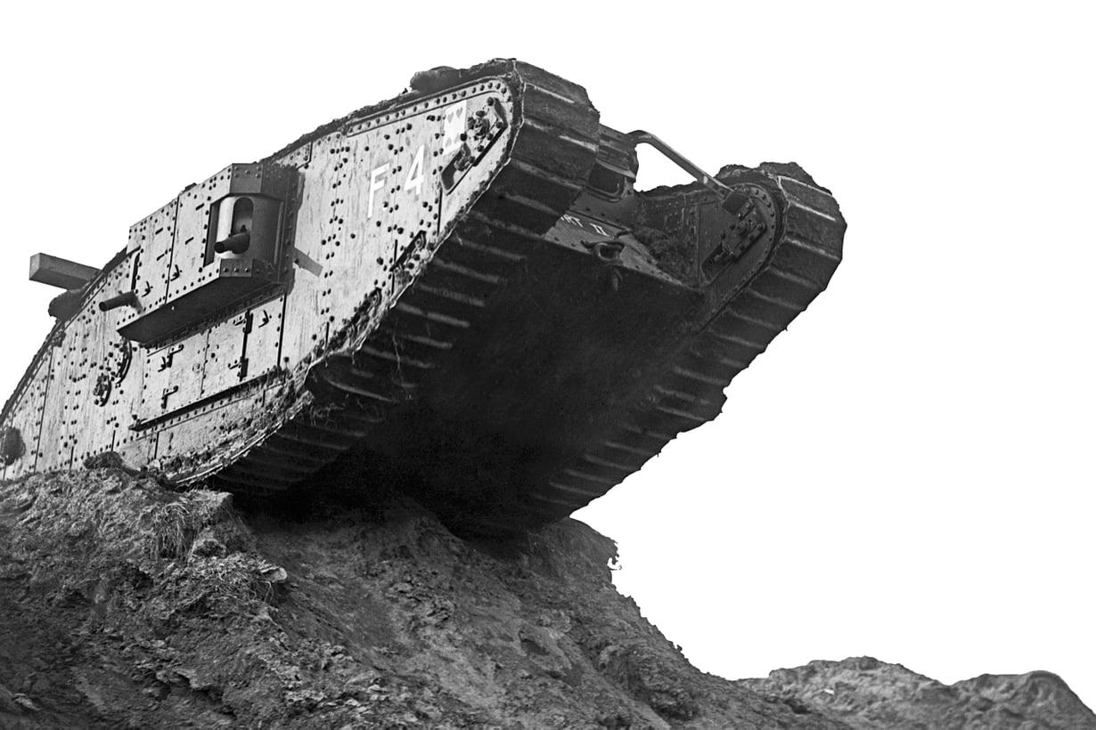 Tulikaste Sommen taistelussa 15.9.1916 ei sujunut odotetusti. Menestystä alkoi tulla kaksi vuotta myöhemmin Cambraissa. Kuva: Getty Images