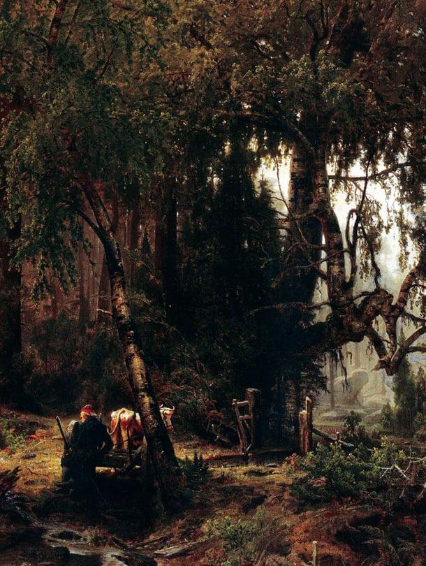 """Vanhan ajan metsä oli sankka, villi ja vieras. Se ahdisti enemmän kuin elvytti. Kuva: <span class=""""photographer"""">Wikimedia Commons</span>"""