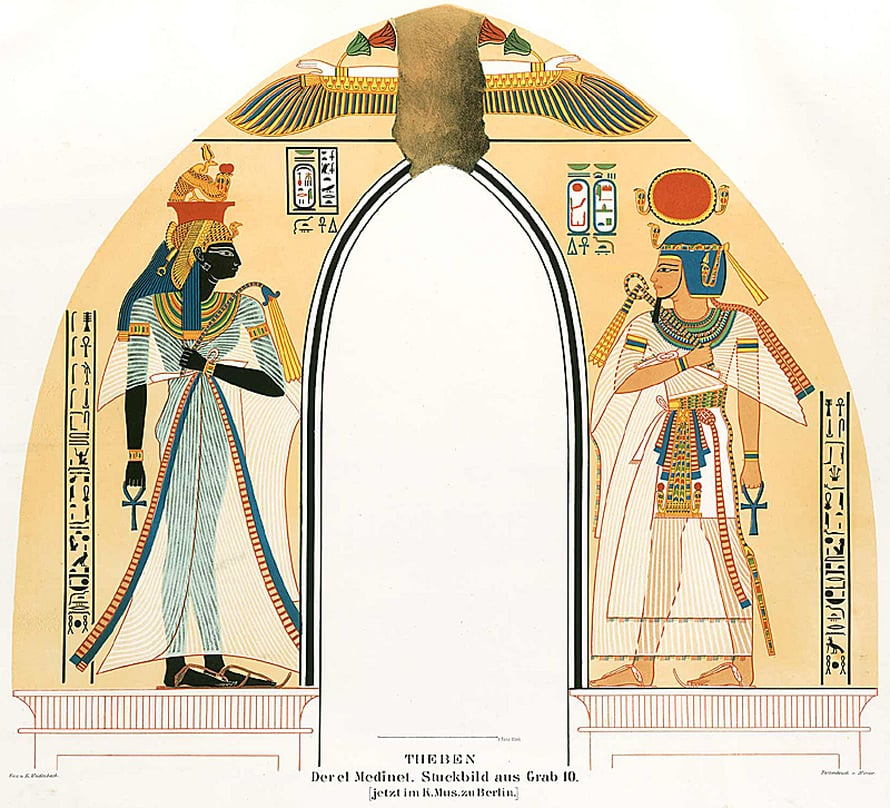 """Deir el-Medina nivoutuu Egyptin loistavimpaan historiaan. Hautamaalauksiin ikuistui ylhäisön ylellinen arki. Kuva: <span class=""""photographer"""">Wikimedia Commons</span>"""