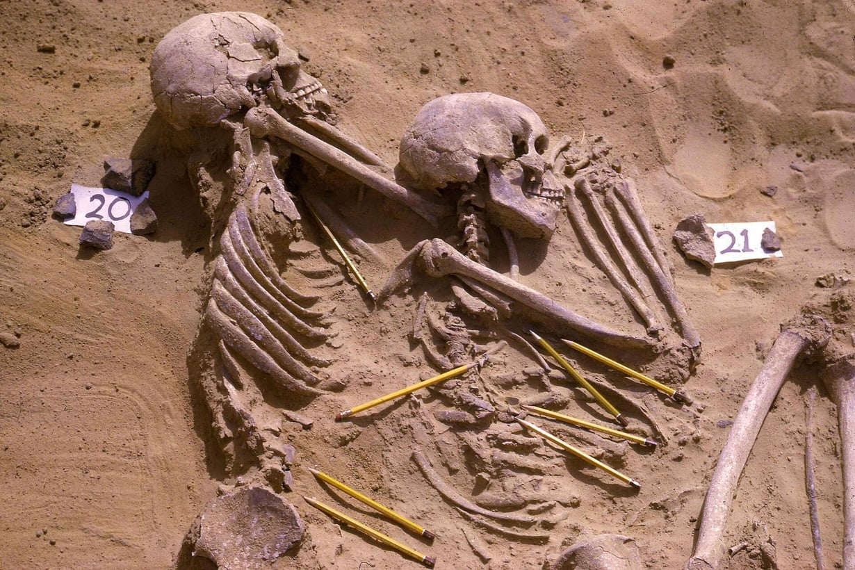 Jebel Sahabasta löytyneet vainajat paljastavat paljon elämästä tuhansia vuosia sitten. Kuva: British Museum / Reuters