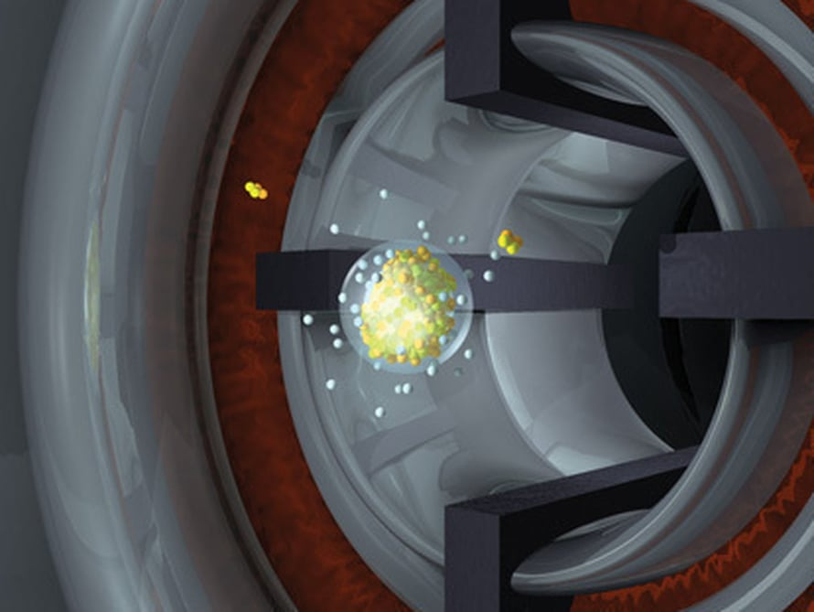 """Tässä syntyy alkuainetta 115. Kuva: <span class=""""photographer"""">Lawrence Livermore National Laboratory</span>"""