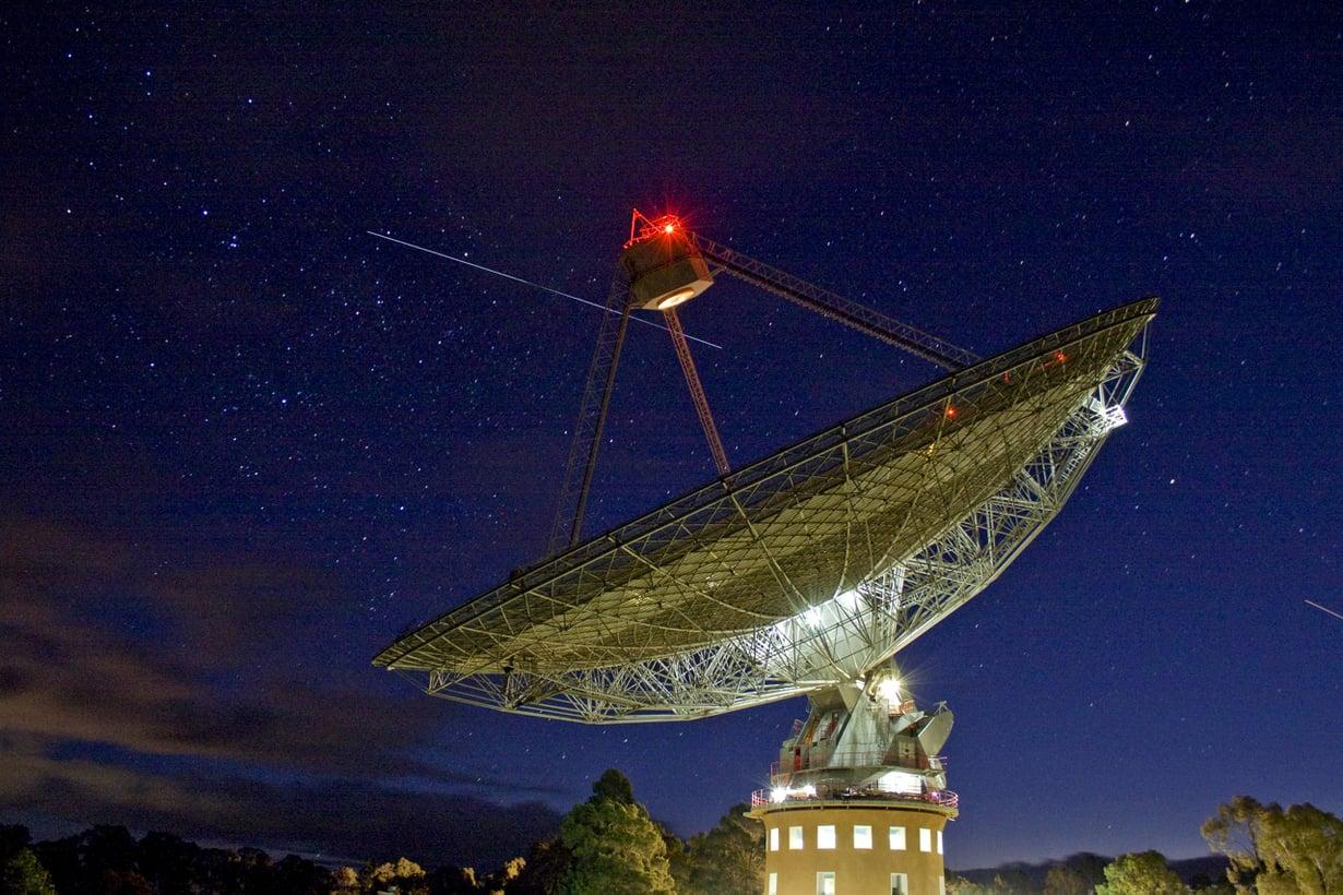 Australialainen Parkes aloittaa alienkanavalla ensi vuonna. Kuva: John Sarkissian / CSIRO Parkes Observatory