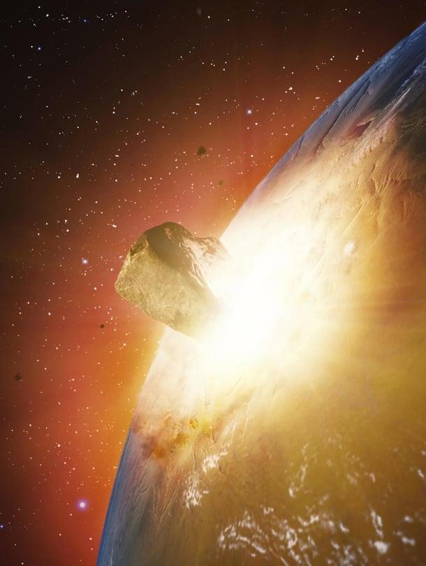 """Aasiaan on iskeytynyt myös isoja meteoriitteja, joista yhden paikka on nyt löytynyt. Taiteilijan näkemys. Kuva: <span class=""""photographer"""">ANDRZEJ WOJCICKI/SCIENCE PHOTO LIBRARY</span>"""