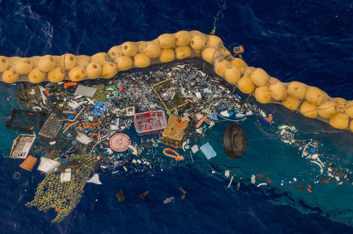 Jätekirjo haavissa on suuri. Kuva: The Ocean Cleanup