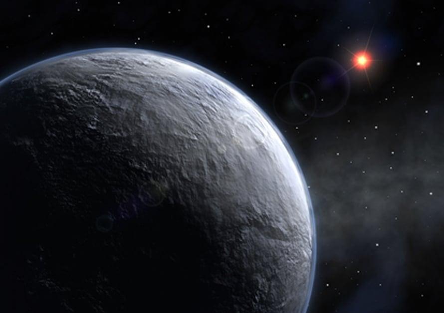 Taiteilijan näkemys eräästä eksoplaneetasta (kuva: ESO).