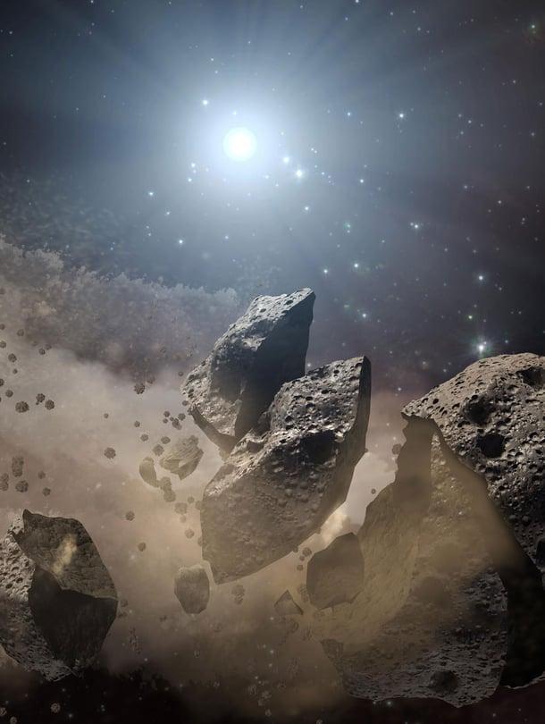 """Avaruuden kivien arvellaan tuoneen elämän nestettä, vettä. Olisivatko ne voineet kantaa eliöitäkin? Kuva: <span class=""""photographer"""">Nasa</span>"""