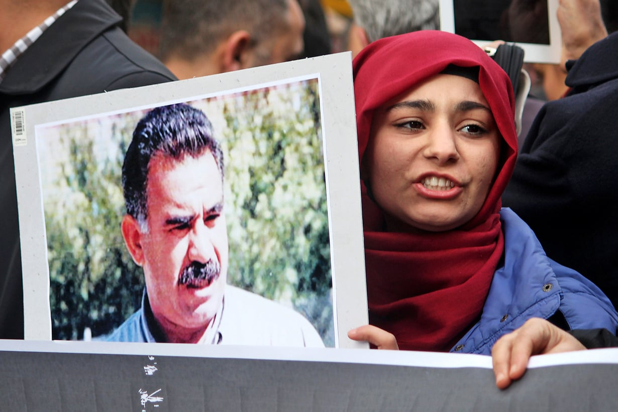 Turkissa kurdien taistelu oikeuksista henkilöityy Abdullah Öcalaniin, joka on istunut vankilassa kohta 16 vuotta. Kuva Getty Images