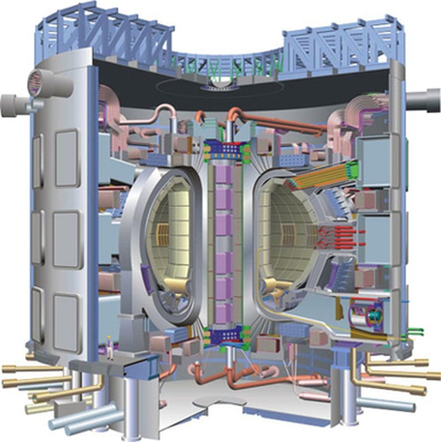 """Ranskaan rakennettava fuusioreaktori. Kuva: <span class=""""photographer"""">ITER</span>"""