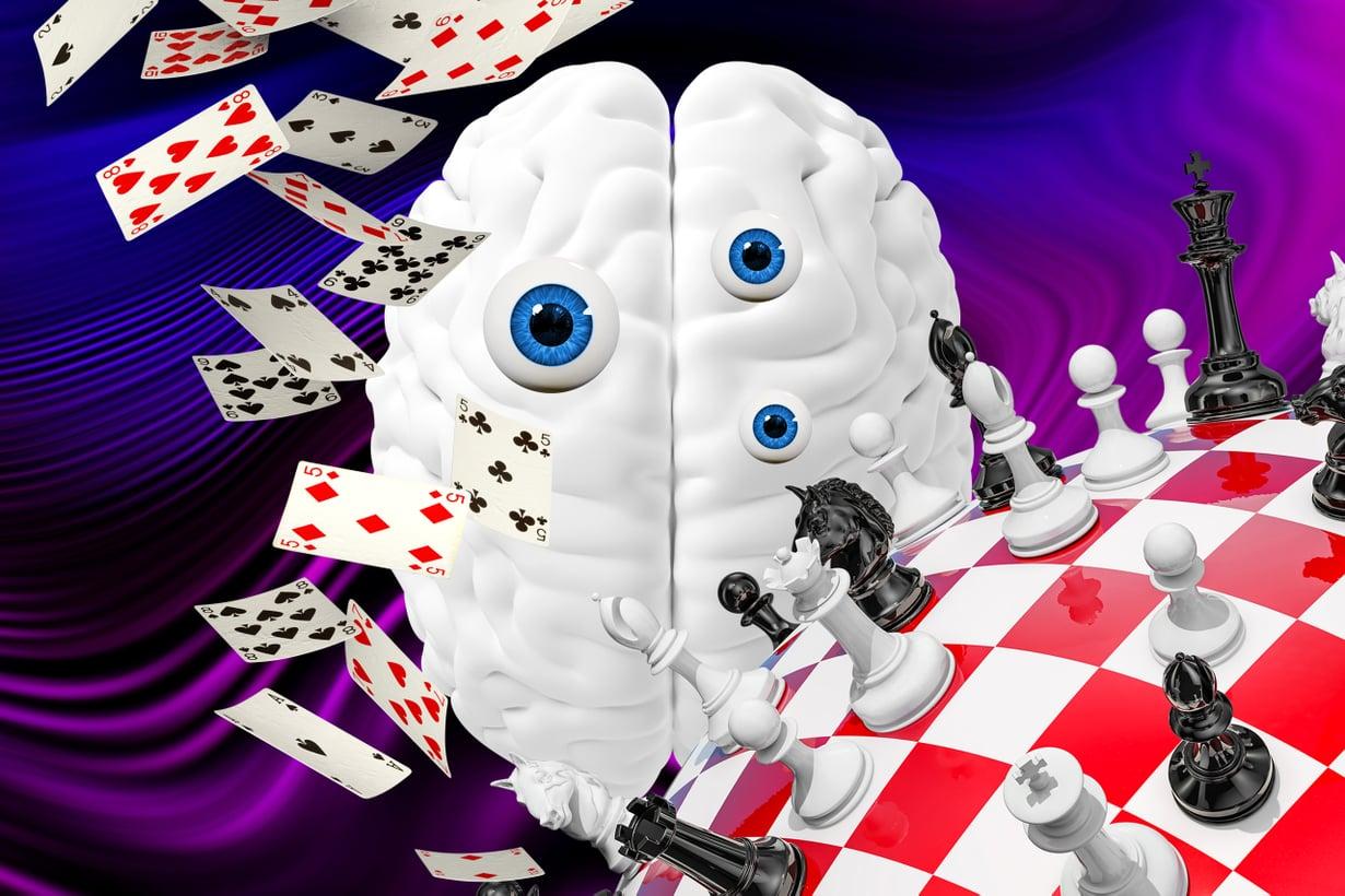 Narsistin aivot huojuttavat itsetuntoa kuin korttitaloa. Kuva: Riku Koskelo