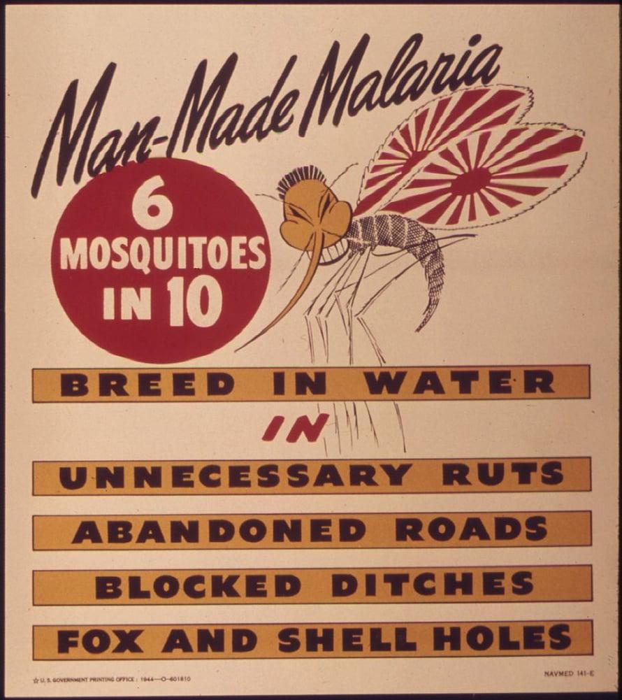 Malariavalistusta 1940-luvulta.