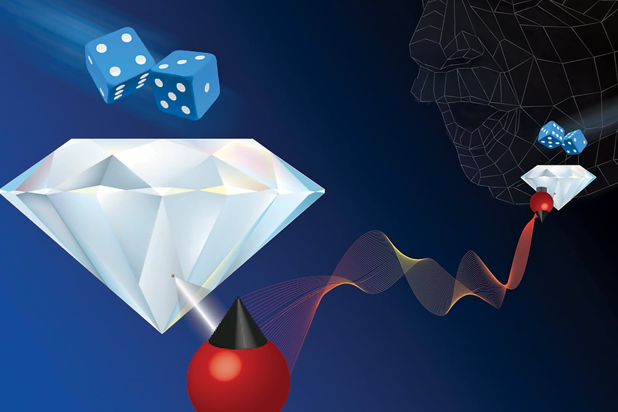 Atomitason ennakoimattomuus sinetöityy: elektronit vaihtavat tilaansa yhtä aikaa välimatkasta välittämättä. Kuva: Icfo