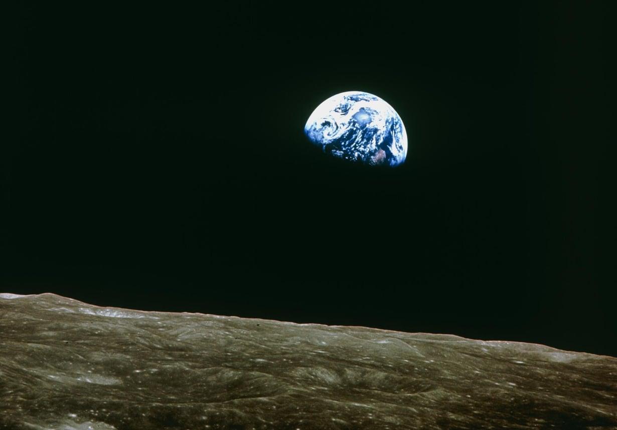 Astronautit näkivät Maan hieman kirkkaampana Apollo-lennoilla 1969–1972 kuin nyt. Kuva: Nasa