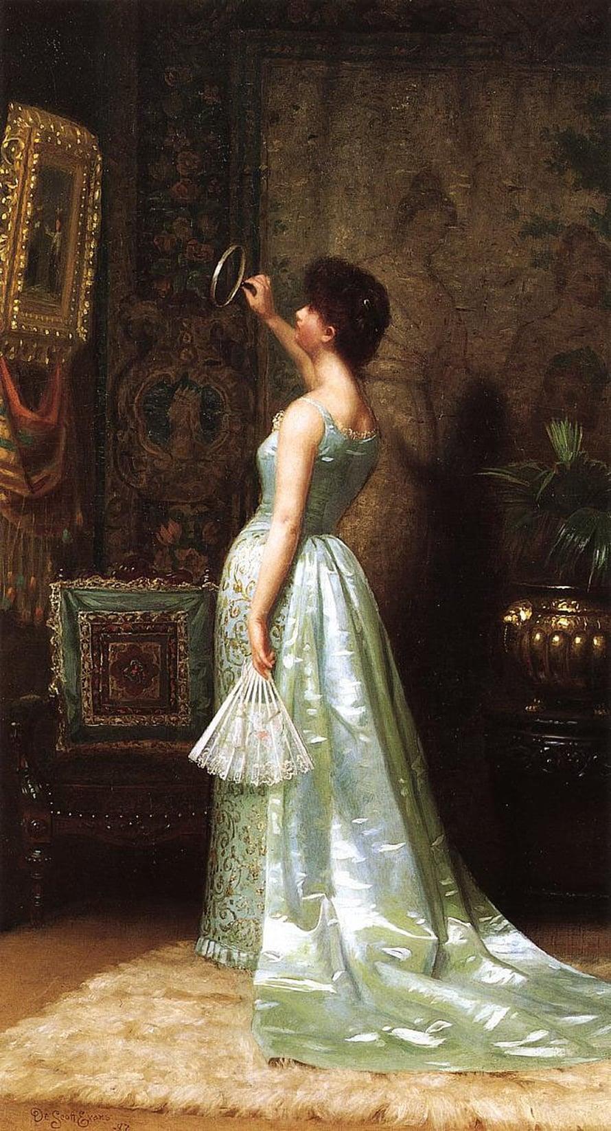DeScott Evansin maalaus Tieteentuntija vuodelta 1887.