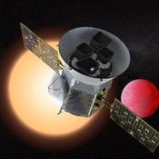 Nasan uusin satelliitti alkaa kuvata lähiavaruuden kirkkaita tähtiä. Kuvista paljastuvat tähtien editse kulkevat planeetat. Kuva: Nasa