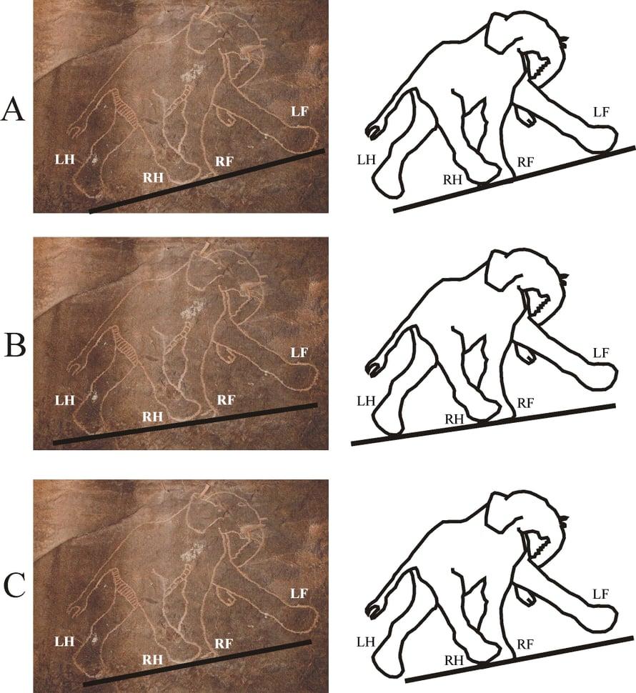Esihistoriallinen näkemys norsusta.