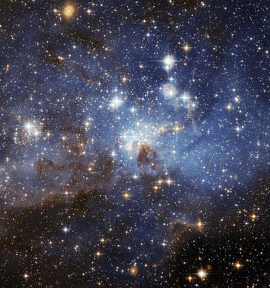 """Suuri Magellanin pilvi onkin uskollinen kumppani. Kuva: <span class=""""photographer"""">Nasa/Esa</span>"""