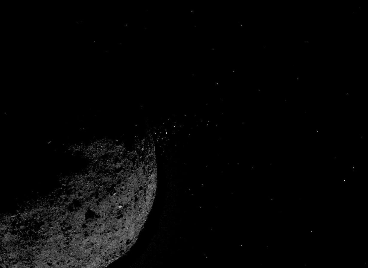 Bennu on 334 miljoonan kilometrin päässä. Kuva: Nasa