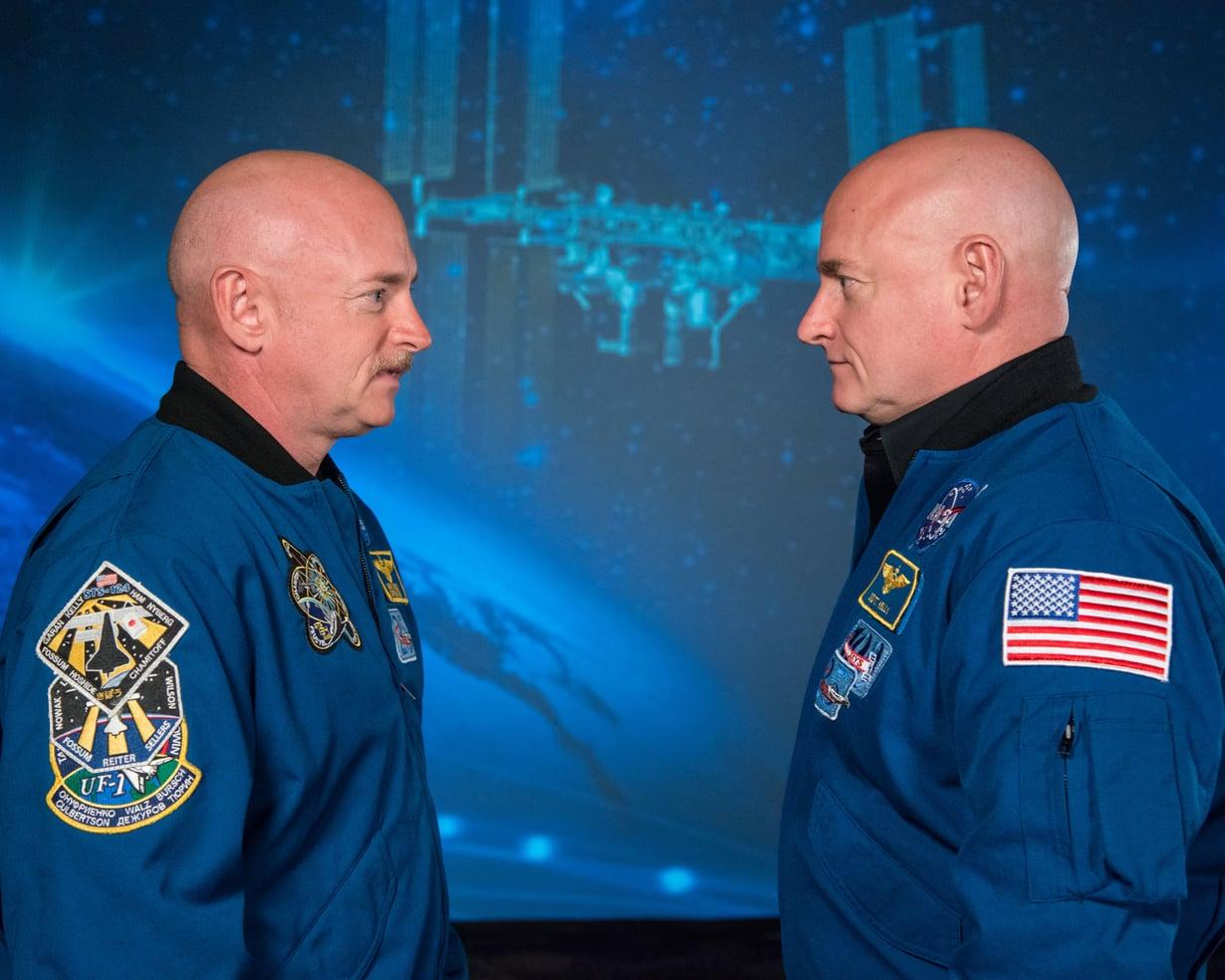 Mark ja Scott Kelly ovat molemmat astronautteja. Kuva: Nasa