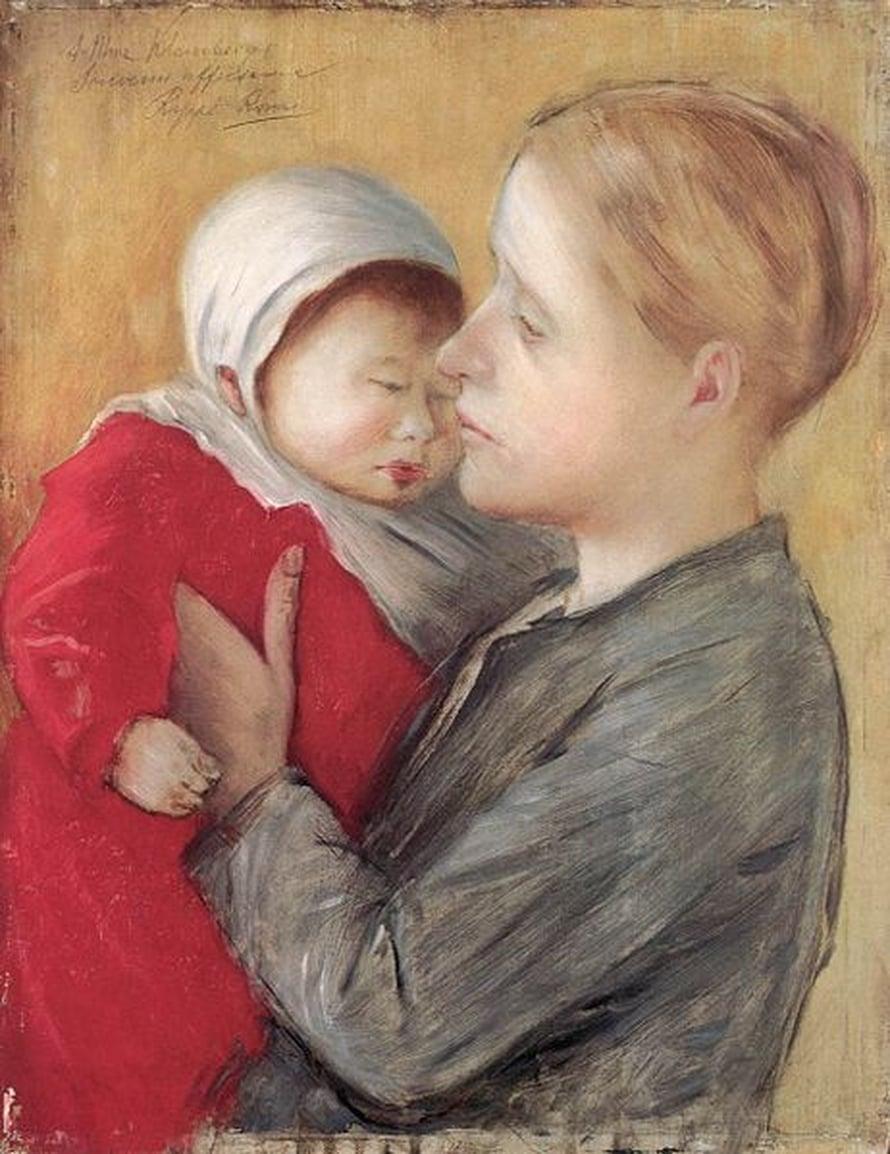 József Rippl-Rónai 1890, Mother with child.