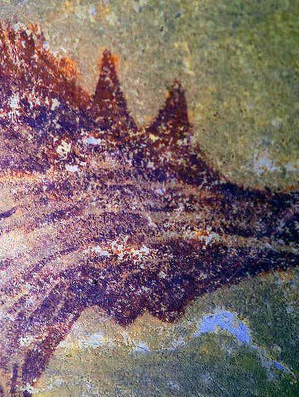 """Suurennos maalauksesta, joka kuvaa isoa urossikaa. Kuva: <span class=""""photographer"""">A. A. Oktaviana</span>"""