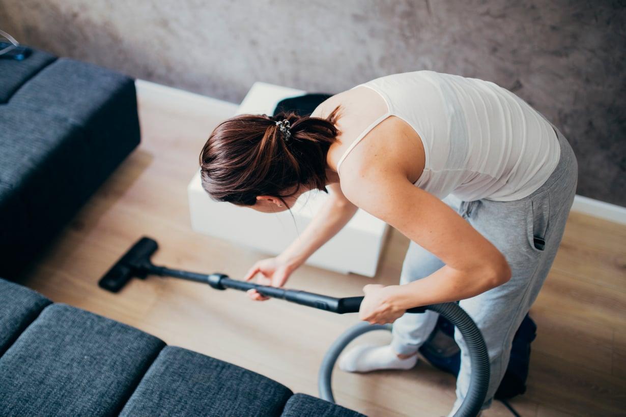 Hyvä syy antaa villakoirille kyytiä: imurointi käy liikunnasta. Kuva: iStock