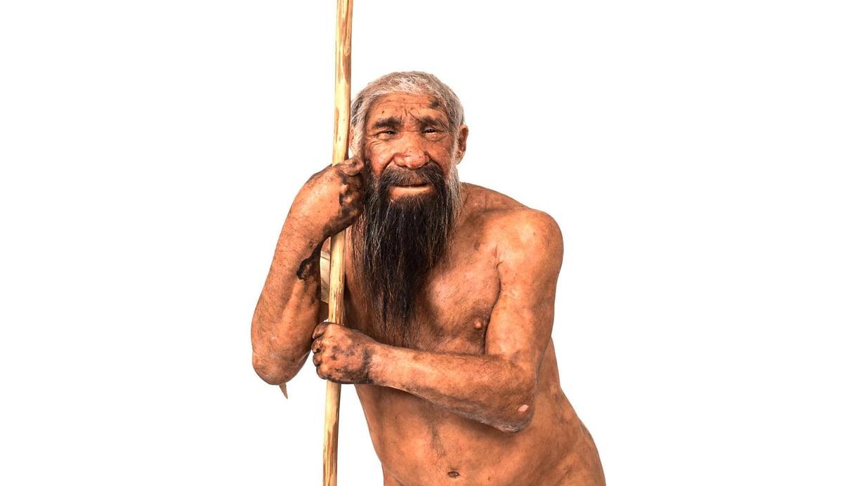 Trenton tiedemuseon rekonstruktio neandertalinihmisestä. Kuva: Matteo De Stefano/MUSE