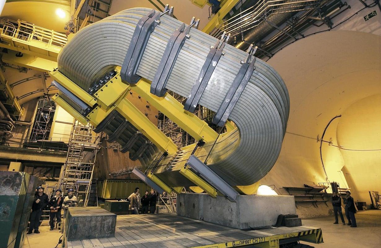 Kokeessa käytetty LHCb-ilmaisin on yksi jättimäisistä laitteista Euroopan hiukkasfysiikan tutkimuskeskuksen suurella kiihdyttimellä. Kuva: CERN / SCIENCE PHOTO LIBRARY