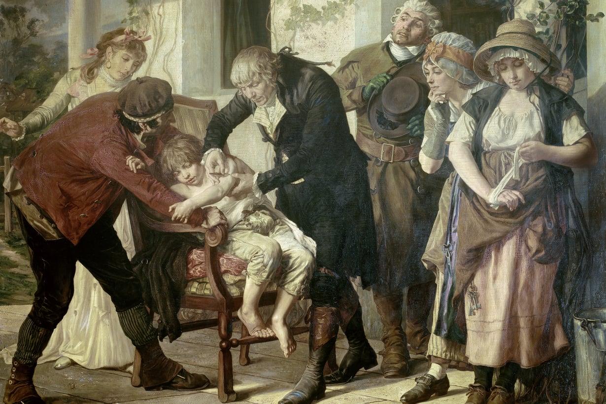 Ensimmäisen rokotuksen antoi Edward Jenner 1796. Kuva: Getty Images