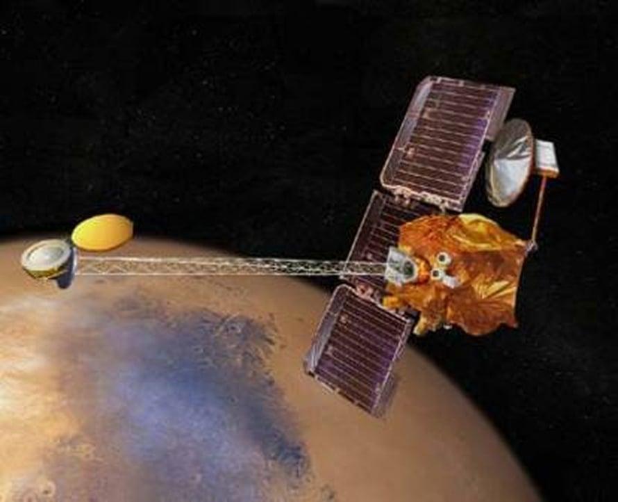 Nasan Mars Odyssey -luotaimen ottamat kuvat muuttavat k
